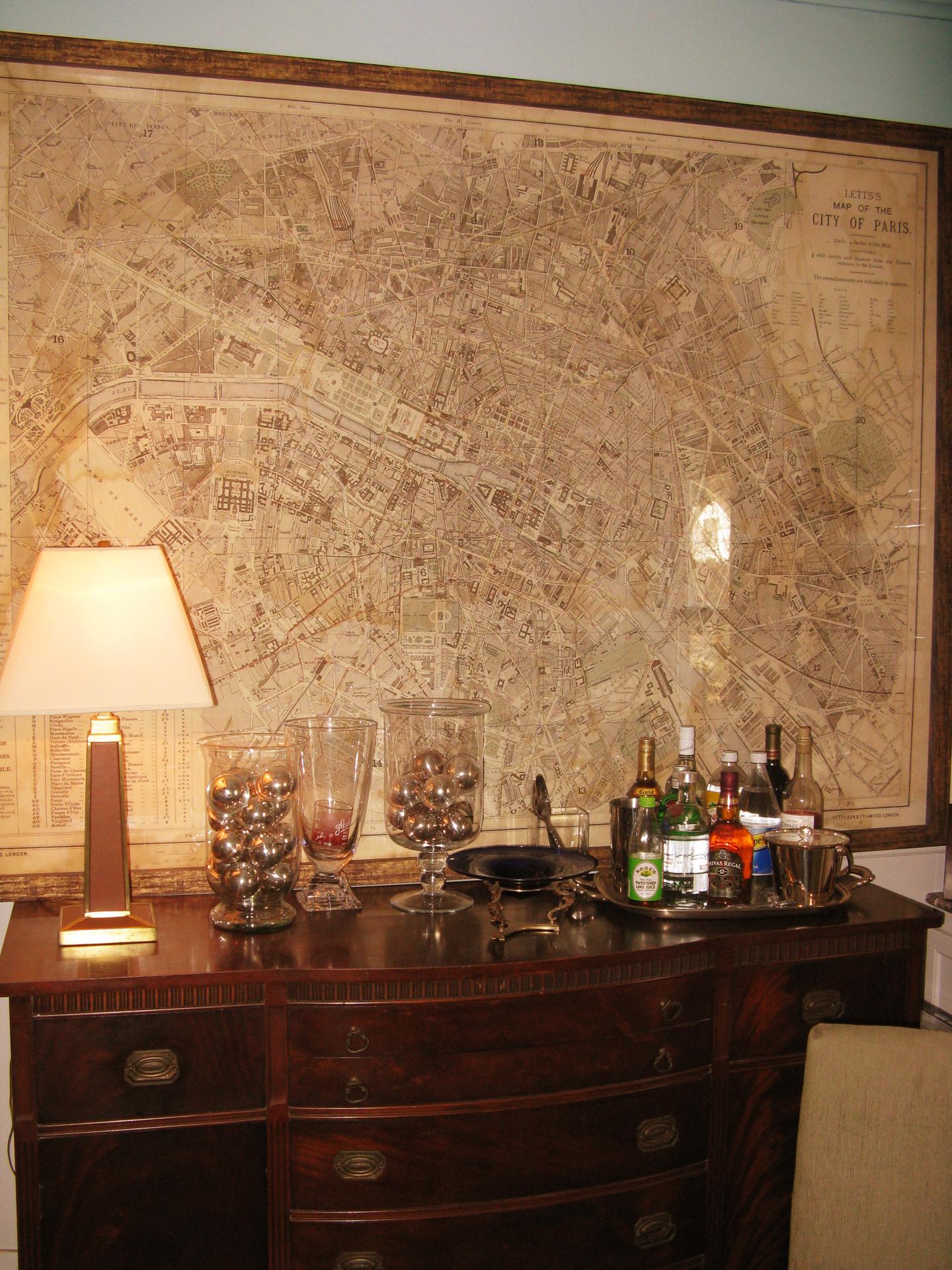 Living A Fulfilled Life - Restoration hardware paris map